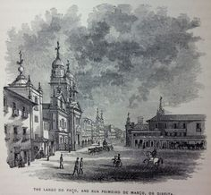 Largo do Paço in FLETCHER, James C. & KIDDER, D. P. Brazil and the Brazilians. Boston: Little, Brown and Company, 1879.