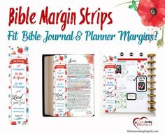 FREE PDF Printable Bible Journal Coloring Margin Strip or Bookmark. #BibleJournaling Fits in my Happy Planner!