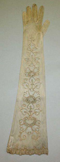 Gloves Designer: Kayser-Roth Glove Co., Inc Date: ca. 1900 Culture: American Medium: silk