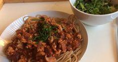 Soup maker Spaghetti Bolognese Syn free Slimming World recipe.