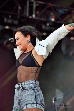 Demi Lovato performing at #iHeartVillage in Las Vegas - September 19th