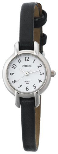 Carriage Women's C7A211 Silver-Tone Round Case White Dial Black Croco Strap Watch Carriage by Timex. $22.99. Water-resistant 99 feet (30 M). Analog-display. Fashion-style. Polished-finish. Round