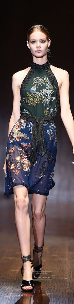 Gucci SS2015 strong Chinoiserie. Love the combination of prints, embroidery and beading.