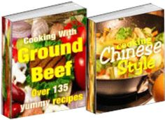 Cooking with Groundbeef + BONUS Cooking Chinese Style...You can use Ground Beef in sandwiches, casseroles, soups, salads,   omelets and the list just goes on and on! I've put together   a collection of some the best Ground Beef recipes I could find   and now you can have them too! * $2.99 - Item No: 115964