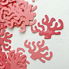 Coral Die Cuts, Coral Confetti by PattyAntlesPrettys on Etsy