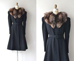 Hazelton coat  1930s fox collar coat  vintage 30s by DearGolden