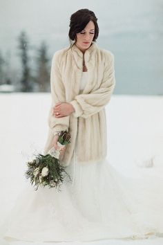The Chic Vintage Winter Bride's Dilemma – Feather or Fur