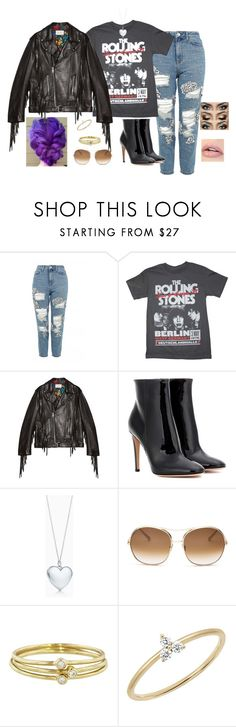 """""""And I'm heading straight for the head!"""" by tripledog ❤ liked on Polyvore featuring Topshop, Gucci, Gianvito Rossi, Tiffany & Co., Chloé, Jennifer Meyer Jewelry and EF Collection"""