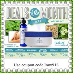 Use coupon code lmw915 to receive an extra 10% off your order. For orders over $55.00 there's free shipping. http://idevaffiliate.sparknaturals.com/idevaffiliate.php?id=4760