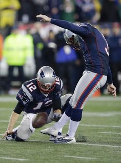 Brady with the hold.  Is there anything this guy CAN'T do!
