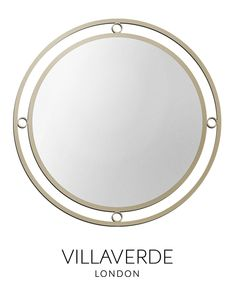 MONDO Classic Mirror designed by Claudio Marco exclusively for VILLAVERDE - Available in various sizes and metal finishes
