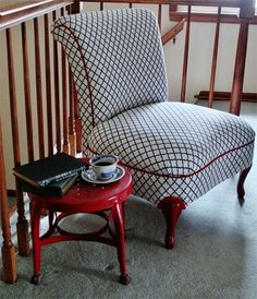 Before & After: Adding Pattern and Color to a Slipper Chair — Confessions of a DIY-aholic