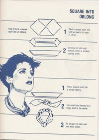"""** """"Square Into Oblong"""" Scarf Tying Tutorial @236vintage"""