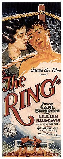 The Ring (1927 - Silent) Starring: Carl Brisson and Ian Hunter. Jealous lovers and an angry prizefighter combine in this suspenseful film.