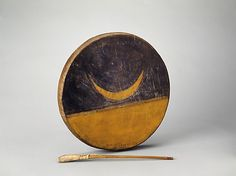 Frame Drum  Thunder Elk     Date:      April 17, 1904  Geography:      United States  Culture:      Native American (Sioux)  Medium:      Paint, sinew