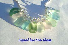10  Sea Glass  Small  Top Drilled English  Sea by aquablueseaglass, $22.00