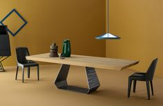 Amond Table Design Gino Carollo Lamina Chair Design Mauro Liparini www.bonaldo.it