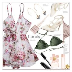 """""""floral"""" by mycherryblossom ❤ liked on Polyvore featuring Valentino, Christian Louboutin, Bobbi Brown Cosmetics and Marc Jacobs"""
