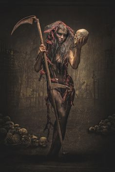 """The Harvest"" -- Photographer: Andreas Richter​ / Model: Vio Letta​ / Stylist & Makeup: KC & Paula / Studio: Stefan Gesell"