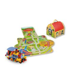 Take a look at this Storage Box Play Mat & Train Construction Kit by Mic-O-Mic on #zulily today! $34 !!
