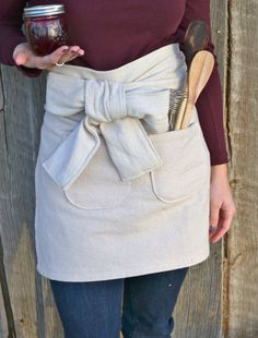 Natural Apron  Hostess Gift  Natural by PearlsAndPetitFours, $35.00