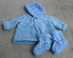 Little Boy Blue sweater set by BorninBuffalo on Etsy, $25.00