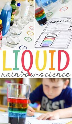 Liquid Rainbow Science is a great science experiment for elementary students to teach the density of different liquids. It is an easy experiment with a free printable. The free printable fits perfectly in your students' science notebook. Rainbow Activities, Science Activities For Kids, Science Fair Projects, Preschool Science, Teaching Science, Hands On Activities, Science Education, Science Classroom, First Grade Science Projects
