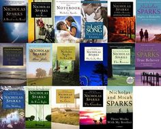Nicholas Sparks books =) pretty much read them all at least once Great Books To Read, I Love Books, Good Books, Nicholas Sparks Movies, Film Music Books, Lol, Book Authors, Book Nerd, The Guardian