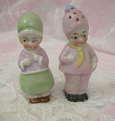 Vintage Porcelain Salt and Pepper Shakers by Hertwig Dolls And Lace.com