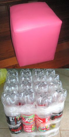 20 Exciting and Inspiring Plastic Bottle Recycling - Her Crochet Reuse Plastic Bottles, Plastic Bottle Crafts, Recycled Bottles, Diy Home Crafts, Diy Arts And Crafts, Fun Crafts, Wine Bottle Candles, Lighted Wine Bottles, Recycled Paper Crafts