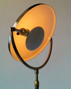 1960 TELESCOPIC FLOOR LAMP brass plated with by VINTAGELAMPDEN