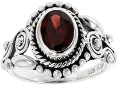 Artisan Gem Collection Of India, 1.35ct Oval Vermelho Garnet(Tm) Sterling Silver Solitare Ring