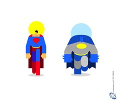 Ultra Light superheroes by Bunka