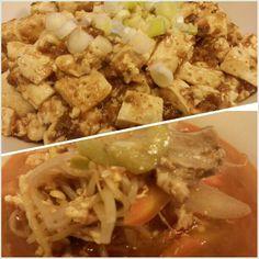 #スパイシー#晩ごはん#麻婆豆腐#ユッケジャンスープ #mapotofu and #korean#spicy#soup for #dinner #yummy#food#philippines#フィリピン