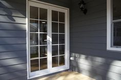 STRONGBUILD HOME BUILDERS -- EXTERNAL-DOORS - ALUMINIUM FRENCH DOORS - Pair of Full Glass 720 doors with Colonial Bars
