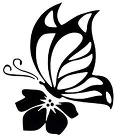 Details about Butterfly Cute Sexy Girly Car Truck Window Vinyl Decal Sticker 10 COLORS - Kathya Coutto Butterfly On Flower, Butterfly Stencil, Butterfly Drawing, Flower Drawings, Stencil Patterns, Stencil Art, Stencil Designs, Bird Stencil, Animal Stencil