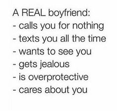 A real boyfriend cares.