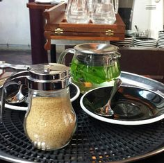 Our Kinto OneTouch Tea Pot spotted in the Merchants Tavern, in Shoreditch London #Kinto #Tea #Teapot