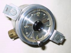 1955 Packard Clock - Dated MAY 55 - Silver Dial - Serviced and Working with a 30 day Guarantee - $139.88