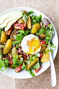 Potato & Poached Egg Bowl