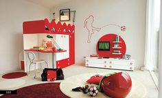 Soccer Theme Kids Bedroom