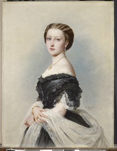 """Princess Louise (1848-1939)"", Albert Graefle, 1864; Royal Collection Trust 400765"