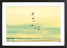 Across The Endless Sea als Gerahmtes Poster von Robin Delean | JUNIQE