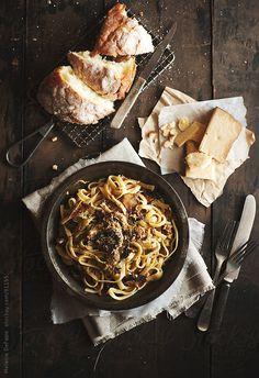 Mushroom Pasta by Melanie DeFazio
