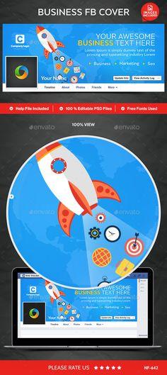 Business Facebook Cover Template PSD #design Download: http://graphicriver.net/item/business-facebook-cover/13112750?ref=ksioks