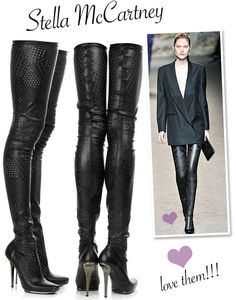 Stella McCartney, Over the knee Boots. I really want these haha
