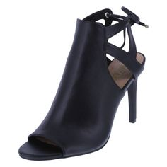 """The Indi Peep Toe's upper is so soft, you'll never want to wear another heel! This Brash heel features an, oh so soft, faux leather upper, strapped ankle and heel and adjustable tie in back, peep toe, soft jersey lining, 4"""" wrapped heel, and a rubber outsole. Manmade materials."""