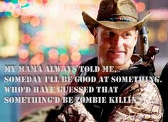 Yeah Zombie Quotes, Funny Quotes, Funny Memes, Cinema, Zombie Movies, Zombieland, Zombie Apocalypse, Action Movies, Good Movies