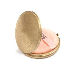 Vintage 1940's Brass Compact, Lulu Frost