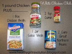 21 Day Fix Clean Eating 5-Ingredient White Chicken Chili 21dayfix Find me on Facebook for more: www.facebook.com/...